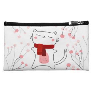かわいい子猫 コスメティックバッグ