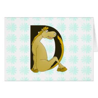かわいい子馬のモノグラムD カード