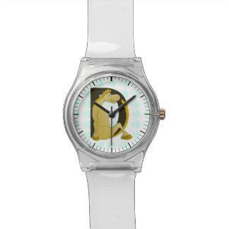 かわいい子馬のモノグラムD 腕時計