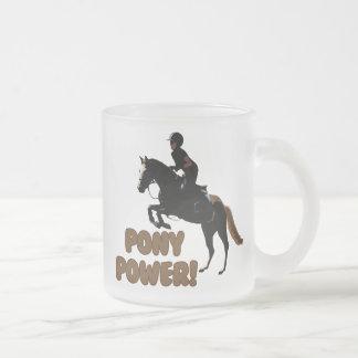 かわいい子馬力の騎手 フロストグラスマグカップ