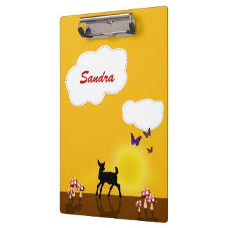かわいい子鹿の絵-子供のクリップボード クリップボード