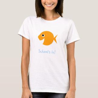 かわいい学校教師の新学期のTシャツ Tシャツ