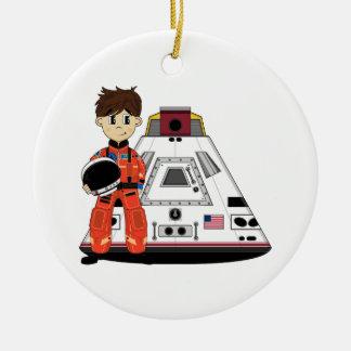 かわいい宇宙飛行士のオーナメント セラミックオーナメント