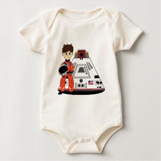 かわいい宇宙飛行士のクリーパー ベビーボディスーツ