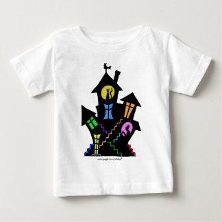 かわいい家のグラフィックアートのベビーのTシャツ ベビーTシャツ