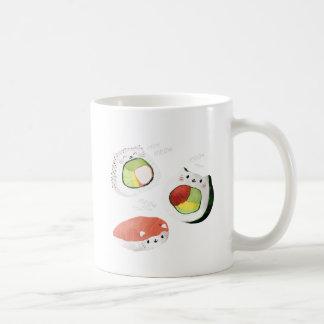 かわいい寿司猫 コーヒーマグカップ