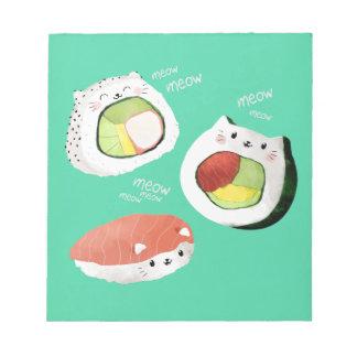 かわいい寿司猫 ノートパッド