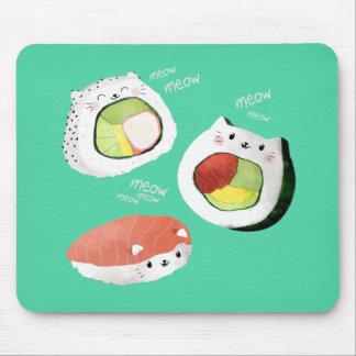 かわいい寿司猫 マウスパッド
