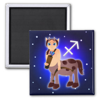 かわいい射手座の(占星術の)十二宮図 マグネット