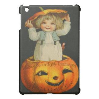 かわいい小さな女の子の微笑のジャックOのランタンのカボチャ iPad MINI カバー