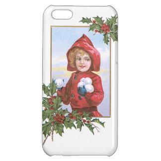 かわいい小さな女の子はヒイラギ雪だるま式に増大します iPhone5Cカバー