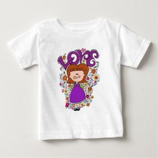 かわいい小さな女の子 ベビーTシャツ