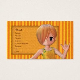 かわいい小さな女の子 名刺