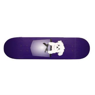 かわいい小型の小犬 スケートボードデッキ