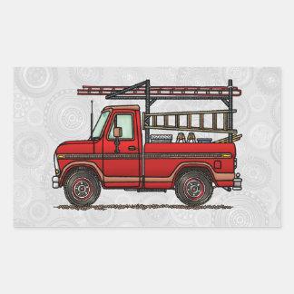 かわいい小型トラック 長方形シール