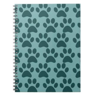 かわいい小犬の足はブルーグレーの愛犬家を印刷します ノートブック