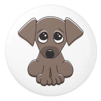 かわいい小犬 セラミックノブ