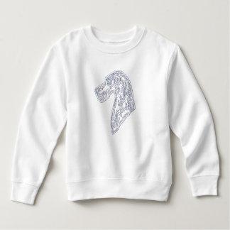 かわいい幼児のスエットシャツ-砂糖のスカルのグレートデーン スウェットシャツ