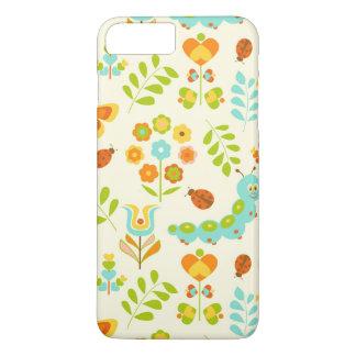 かわいい幼虫および花 iPhone 8 PLUS/7 PLUSケース