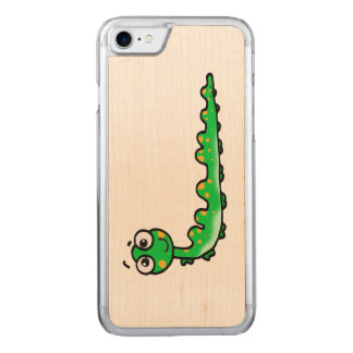 かわいい幼虫の漫画 CARVED iPhone 8/7 ケース