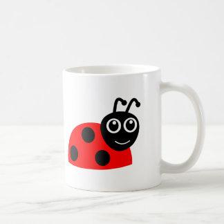 かわいい微笑のてんとう虫の漫画 コーヒーマグカップ