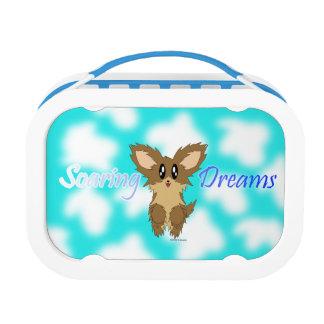 かわいい急上昇した夢のScuffyの小犬 ランチボックス