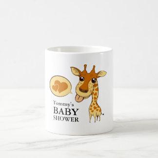 かわいい恋人のキリンのベビーシャワーのマグ コーヒーマグカップ