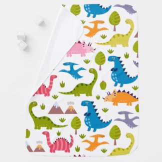 かわいい恐竜のベビーブランケット ベビー ブランケット