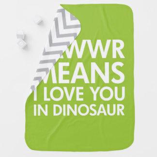 かわいい恐竜の養樹園毛布-ディーノのベビー部屋 ベビー ブランケット