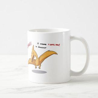 かわいい恐竜のrawrの平均I愛 コーヒーマグカップ