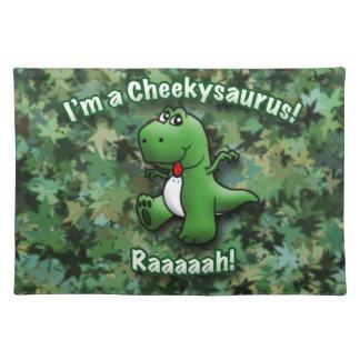 かわいい恐竜はCheekysaurusです ランチョンマット