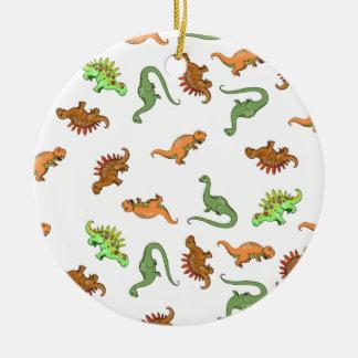 かわいい恐竜パターン セラミックオーナメント