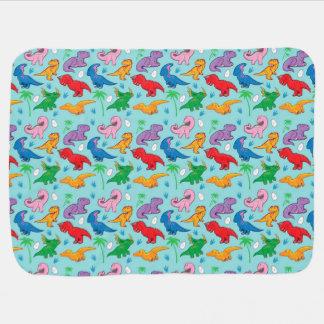かわいい恐竜パターン ベビー ブランケット
