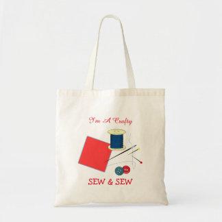 かわいい悪賢い縫い、縫います トートバッグ
