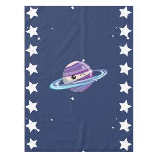 かわいい惑星の土星の宇宙の銀河系の子供の誕生日 テーブルクロス