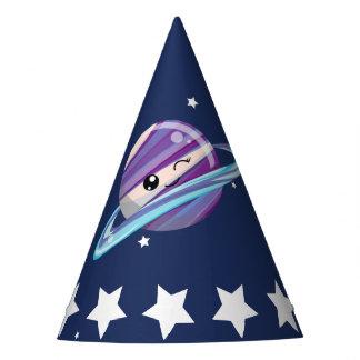 かわいい惑星の土星の宇宙の銀河系の子供の誕生日 パーティーハット