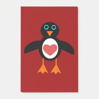 かわいい愛ハートのペンギンのポスト・イットのパッド ポストイット