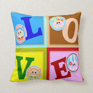 かわいい愛動物の枕 クッション