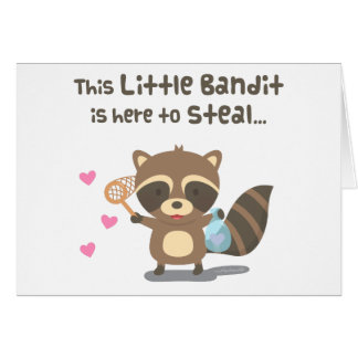 かわいい愛小さい覆われた強盗のアライグマ カード