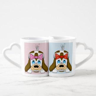 かわいい愛犬家のマグ ペアカップ