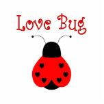 かわいい愛虫のハートのてんとう虫の装飾 切り抜き