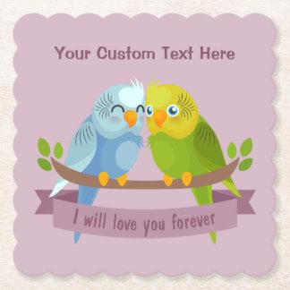 かわいい愛鳥のカスタムな文字の紙のコースター ペーパーコースター