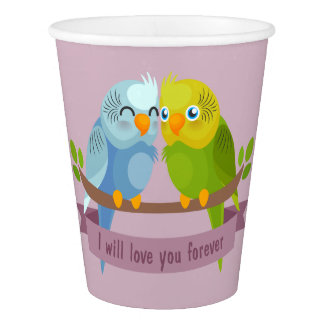 かわいい愛鳥の紙コップ 紙コップ