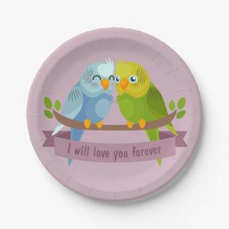 かわいい愛鳥の紙皿 ペーパープレート