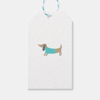 かわいい手描きの小犬 ギフトタグ