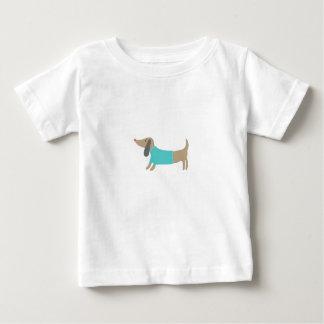 かわいい手描きの小犬 ベビーTシャツ
