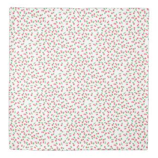 かわいい手描きの水彩画のさくらんぼパターン 掛け布団カバー