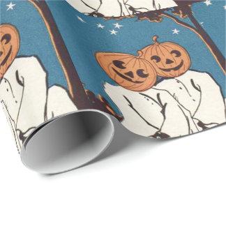かわいい抱擁のカボチャジャックOのランタンの幽霊 ラッピングペーパー
