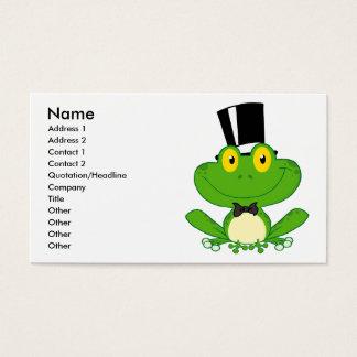 かわいい新郎の漫画のカエルのキャラクター 名刺