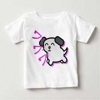 かわいい日本製アニメのスタイル犬のTシャツ-紫色 ベビーTシャツ